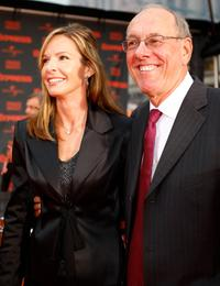 Juli Boeheim and Jim Boeheim at the New York premiere of