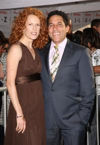 Oscar Nunez and Guest at the California premiere of