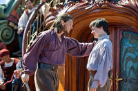 Ben Barnes as Prince Caspian and Skandar Keynes as Edmund in
