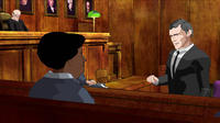 Animated footage of prosecutor Thomas Aquinas Foran in