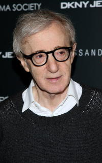 Writer/director Woody Allen at the New York screening of
