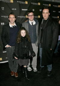 Actor Alessandro Nivola, director James C. Strouse, actors John Cusack and Gracie Bednarczyk at the premiere of