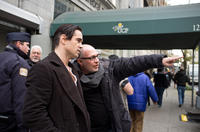 Colin Farrell and director Akiva Goldsman on the set of