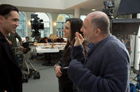 Colin Farrell, Jennifer Connelly and director Akiva Goldsman on the set of