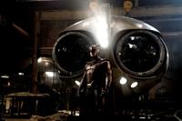 Patrick Wilson as Nite Owl with the Owl Ship in