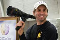 Director Zack Snyder on the set of
