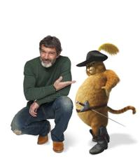 Antonio Banderas voices Puss In Boots in