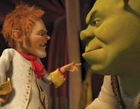 Walt Dohrn voices Rumpelstiltskin and Mike Myers voices Shrek in