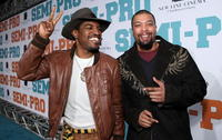 Actors Andre Benjamin and DeRay Davis at the L.A. premiere of