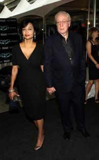 Shakira Caine and Michael Caine at the New York premiere of