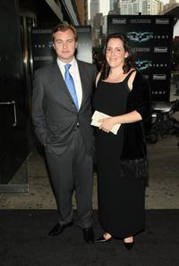 Christopher Nolan and his wife Emma Thomas at the New York premiere of
