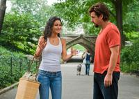 Emmanuelle Chriqui as Dalia and Adam Sandler as Zohan in
