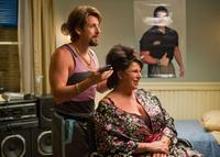 Adam Sandler as Zohan and Lainie Kazan as Gail in