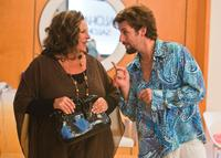 Lainie Kazan as Gail and Adam Sandler as Zohan in