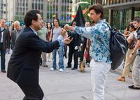 Christopher Innvar and Adam Sandler as Zohan in