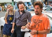 Ben Wise as Yhitzak, Robert Smigel as Yosi and Adam Sandler as Zohan in