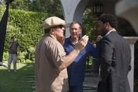 Director David Mamet, Tim Allen and Chiwetel Ejiofor on the set of
