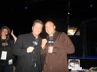 Mike Goldberg and Randy Couture on the set of
