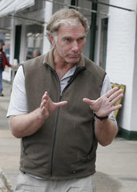 Director John Sayles on the set of