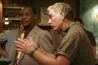 Danny Glover and director John Sayles on the set of