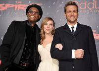 Samuel L. Jackson, Scarlett Johansson and Gabriel Macht at the California premiere of