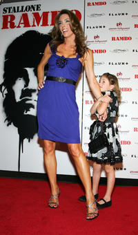 Jennifer Flavin and daughter Scarlet Rose at the Las Vegas premiere of