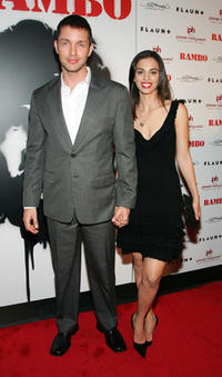 Actor Matthew Marsden and wife Nadine Marsden at the Las Vegas premiere of