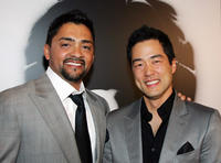 Actors Reynaldo Gallegos and Tim Kang at the Las Vegas premiere of