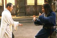 Jet Li as Silent Monk and Jackie Chan as Lu Yan in