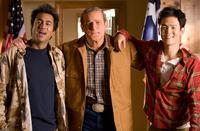 Kal Penn as Kumar, James Adomian as George Bush and John Cho as Harold in