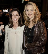 Producer Lauren Shuler Donner and Lisa Kudrow at the California premiere of