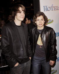 Johnny Simmons and Jake T. Austin at the California premiere of
