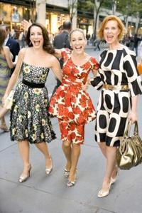 Kristin Davis as Charlotte York-Goldenblatt, Sarah Jessica Parker as Carrie Bradshaw and Cynthia Nixon as Miranda Hobbes in