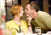 Cynthia Nixon as Miranda Hobbes and David Eigenberg as Steve Brady in