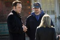 Vince Vaughn, Director Seth Gordon and Reese Witherspoon on the set of