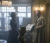 Emily Blunt as Gwen Conliffe and Hugo Weaving as Det. Aberline in