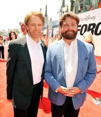 Jerry Bruckheimer and Zach Galifianakis at the California premiere of