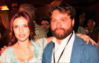 Kelli Garner and Zach Galifianakis at the California premiere of