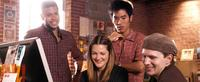 Wilson Cruz as Nathan, Drew Barrymore as Mary, Leonardo Nam as Joshua and Rod Keller as Bruce in