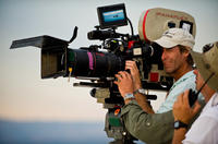 Director Michael Bay on the set of