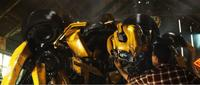 Bumblebee and Shia LaBeouf as Sam Witwicky in