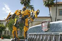 The Autobots Bumblebee and Optimus Prime in