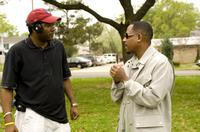 Director Malcolm D. Lee and Martin Lawrence as Dr. RJ on the set of