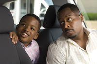 Martin Lawrence as Dr. RJ and Damani Roberts as his son Jamaal in