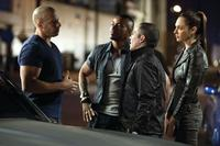 Vin Diesel as Dom Toretto, Laz Alonso as Fenix, John Ortiz as Campos and Gal Gadot as Giselle in