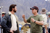 Director Gavin Hood and Hugh Jackman on set of