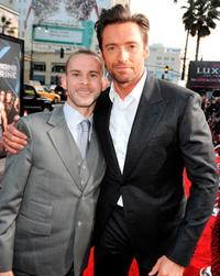 Dominic Monaghan and Hugh Jackman at the California premiere of