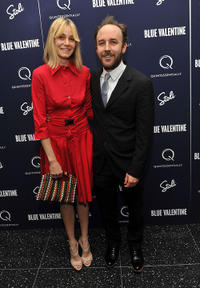 Shannon Plumb and director Derek Cianfrance at the after party of the New York premiere of