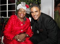 Actors Irma P. Hall and Rick Fox at the after party of the L.A. premiere of