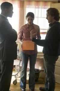 Will Smith, Rosario Dawson and Director Gabriele Muccino on the set of